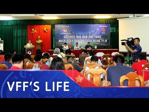 Lãnh đạo VFF, VPF gặp mặt chúc mừng các nhà báo thể thao phía Bắc nhân dịp 21/6