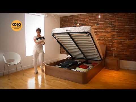 Video giường ngủ tiện ích với tay nâng 01