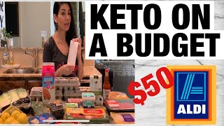 Keto on a Budget - Aldi Grocery haul - Keto for weight loss doesn't have to be boring on a Budget