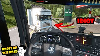 ★ IDIOTS on the road #53 - ETS2MP   Funny moments - Euro Truck Simulator 2 Multiplayer