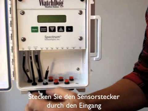 Wie schliesse ich einen Sensor an auf meine WatchDog Wetterstation Serie 2000 von Specmeters.eu