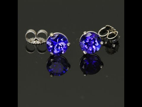 Tanzanite Earrings 1.41 Carats