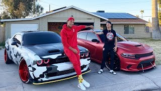 I GAVE MY BROTHER MY HELLCAT REDEYE! *PRICELESS REACTION*