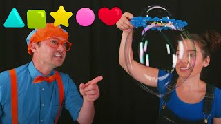 Blippi Learns Shapes And How To Make Big Bubbles | Fun And Educational Videos For Toddlers
