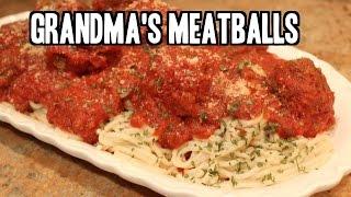 Grandma's Authentic Italian Meatballs And Sauce