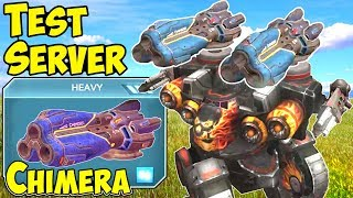 War Robots New Heavy Weapon Chimera Test Server Gameplay WR
