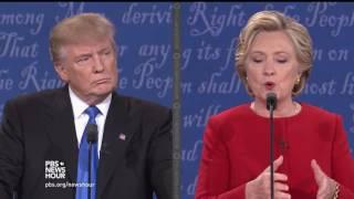 Trump and Clinton debate their economic policies