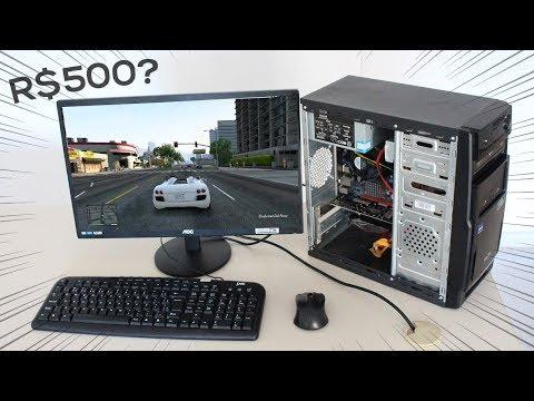 DESAFIO: PC Gamer Barato por R$500 (ou quase) - VEJA O RESULTADO! - 2018