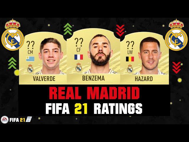 FIFA 21 | REAL MADRID PLAYER RATINGS! 😱🔥| FT. BENZEMA, VALVERDE, HAZARD... etc