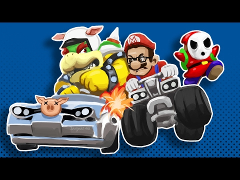 Mario Kart 8 Funny Moments W/ Friends - Mini Ladd Rage!