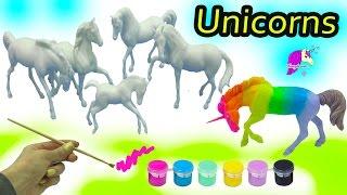 DIY Colorful + Rainbow Unicorn Horses - Breyer Stablemates My Dream Horse Fantasy Painting Kit