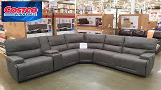 COSTCO SOFAS COUCHES SECTIONALS ARMCHAIRS HOME FURNITURE SHOP WITH ME SHOPPING STORE WALK THROUGH
