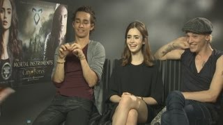 Mortal Instruments: Lily Collins, Jamie Campbell Bower And Robert Sheehan Talk Magic And Love