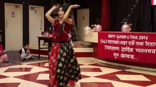 Pani Mitho Mero Hajur || Aity Gurung || Dashain Programme 2072 (2016), UK