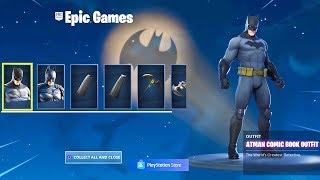 The New BATMAN Skin Bundle In Fornite..