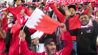Supporters of Bahrain are celebrating the goal to South Korea at the AFC Asian Cup UAE 2019