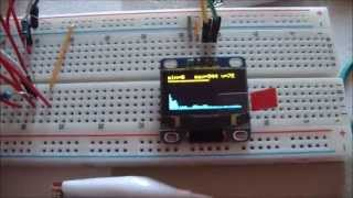 Color LED matrix VU meter shows how to use FFT with