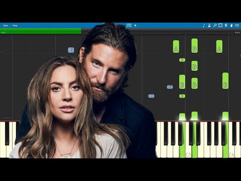 I'll Never Love Again - Piano Tutorial - PIANO ONLY - Lady Gaga & Bradley Cooper - A Star Is Born