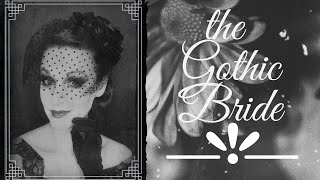 Gothic Bridal Hairstyle For The Sadie Series
