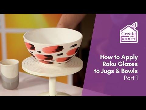 How to Glaze Pots with Raku Glaze Part 1 | Craft Academy