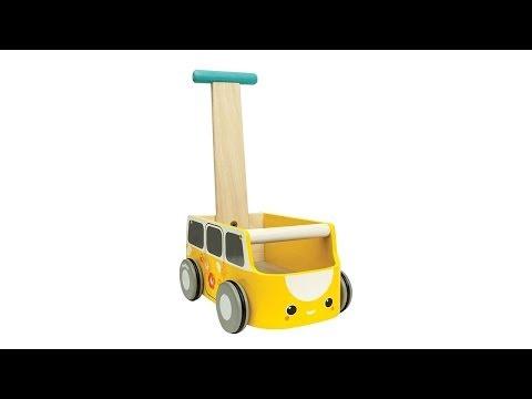 Vorschau: Gelber Lauflernwagen mit Stauraum