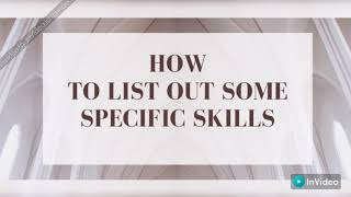 How to list skills on a resume