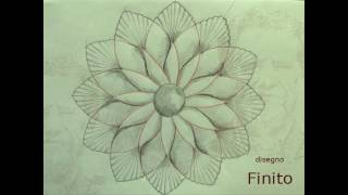 """Disegno per l'esercizio d'intaglio 004 - """"Fiore geometrico"""" -"""