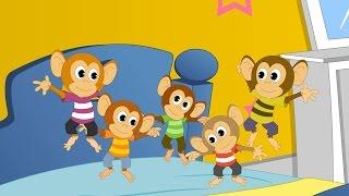 Пять маленьких обезьянок   Five Little Monkeys