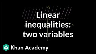 Solving and graphing linear inequalities in two variables 1