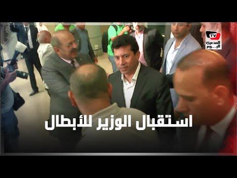 وزير الرياضة يستقبل أبطال اليد عقب حصولهم على برونزية العالم: «عارفين معنى مصر»