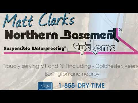 Responsible Basement Waterproofing in West Chazy, New York, by Matt Clark's Northern Basement Systems.