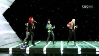 2NE1 - Can't Nobody (투애니원 - Can't Nobody) @ SBS Inkigayo 인기가요 100912