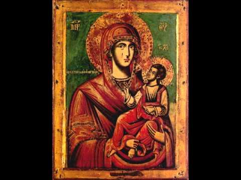 Paraclisul Maicii Domnului în română şi arabă