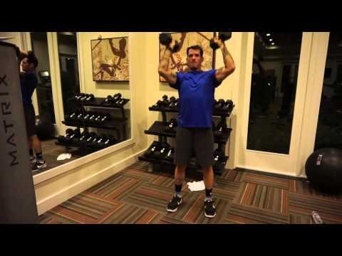 Dumbbell Squat to Shoulder Press