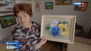 78-летняя пенсионерка из Крыма пишет уникальные картины