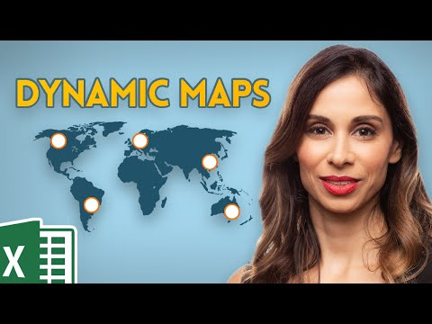 How to create a dynamic map chart with drop-down (works with ANY Excel version)