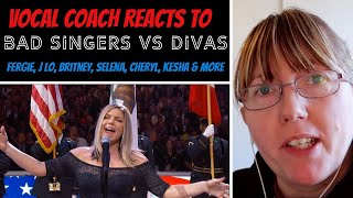 Vocal Coach Reacts to Bad Female Singers Vs Diva's (Fergie Vs Lady Gaga |  Selena Vs Demi Lovato)