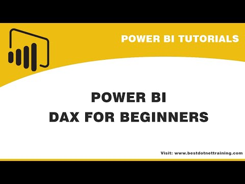 DAX for Beginners | Power BI DAX - YouTube