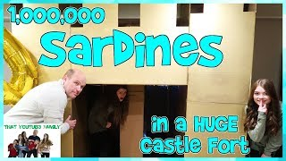 SARDINES In A HUGE Castle Box Fort With A Maze! / That YouTub3 Family