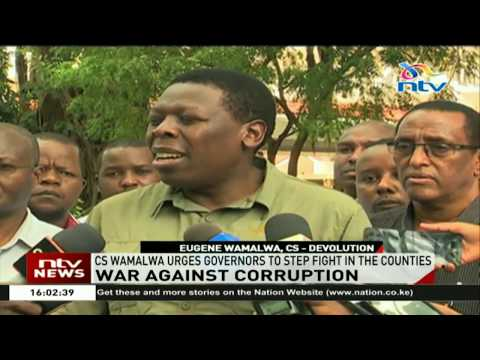 CS Wamalwa urges governors to join in the war against graft