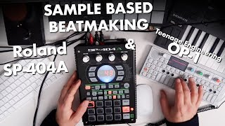 Making a sampled beat on Roland SP-404A