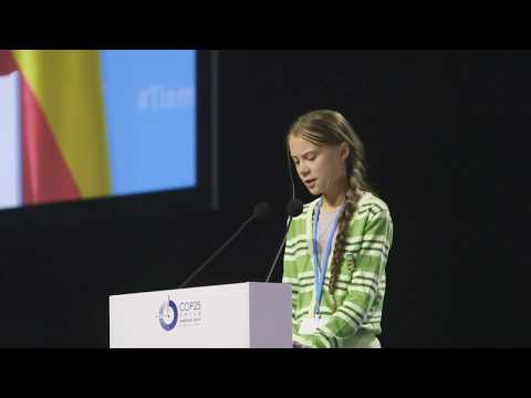 Greta Thunberg full speech at UN Climate Change COP25 - Climate Emergency Event