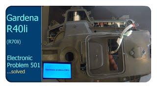 Gardena R40li Electronic Problem 501