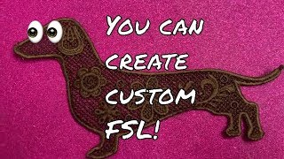 Machine Embroidery: Free Standing Lace Custom Embroidery Designs