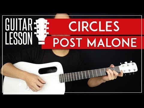 Circles Guitar Tutorial 🎸  Post Malone Guitar Lesson |Chords + TAB|