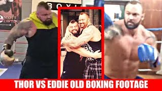 Thor Bjornsson and Eddie Hall Boxing/ Sparring Footage