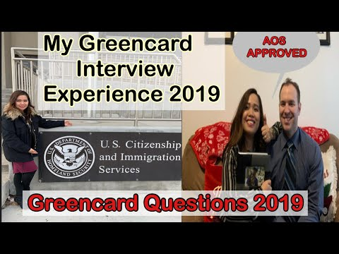Adjustment of Status Interview 2019 Approved |Greencard Interview/ K1 visa Entry