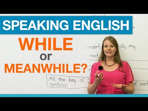 Speaking English: WHILE or MEANWHILE?