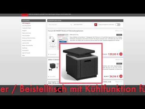 Schnäppchen/Billiger des Tages 21.07.2017 - Allibert Gartenhocker / Beistelltisch mit Kühlfunktion