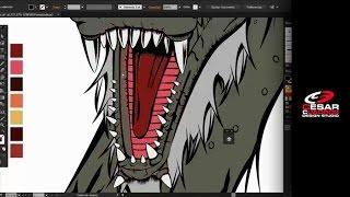 Dragon King Speedpaint Illustrator CC - Illustration Process